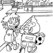 dessin sur le chemin de l'école