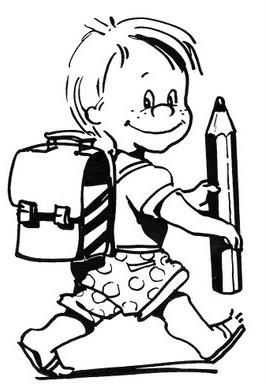 coloriage à dessiner sur le chemin de l'école