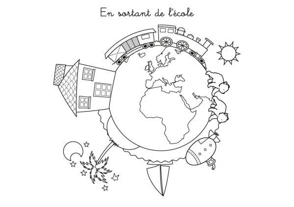 Coloriage Ecoliers Retour Ecole Enfants Dessin: 204 Dessins De Coloriage Sur Le Chemin De L'école à Imprimer