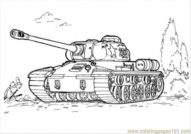 coloriage à dessiner tank de guerre