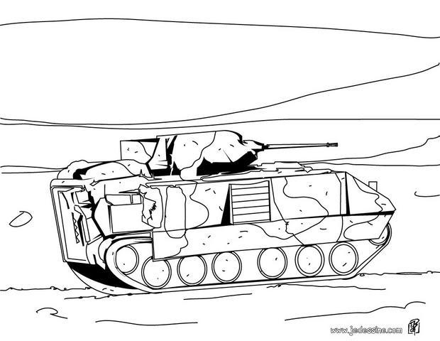 coloriage à dessiner a imprimer tank militaire