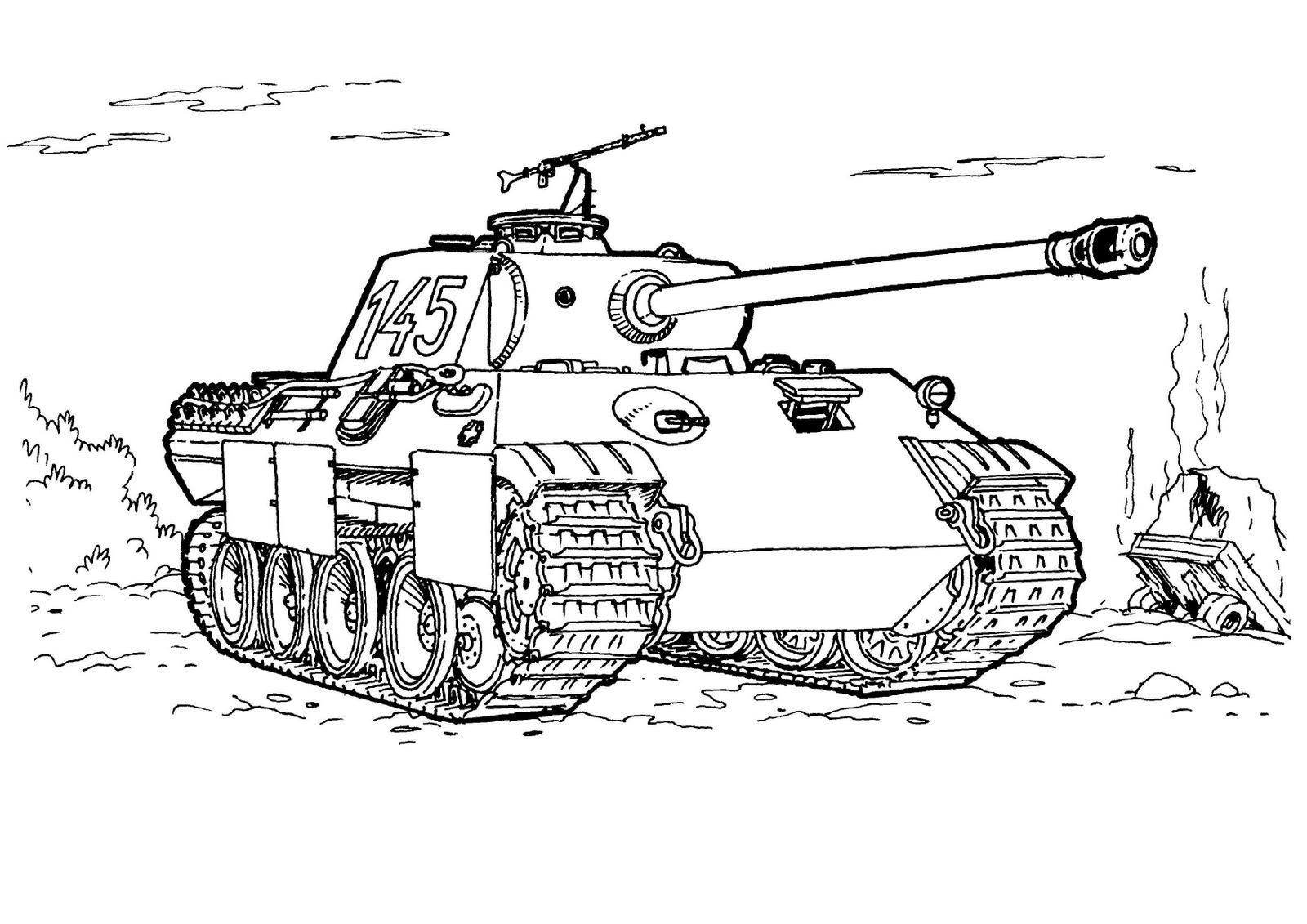 coloriage de tank en ligne