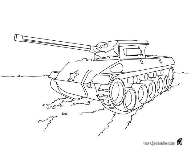 coloriage à dessiner tank a imprimer
