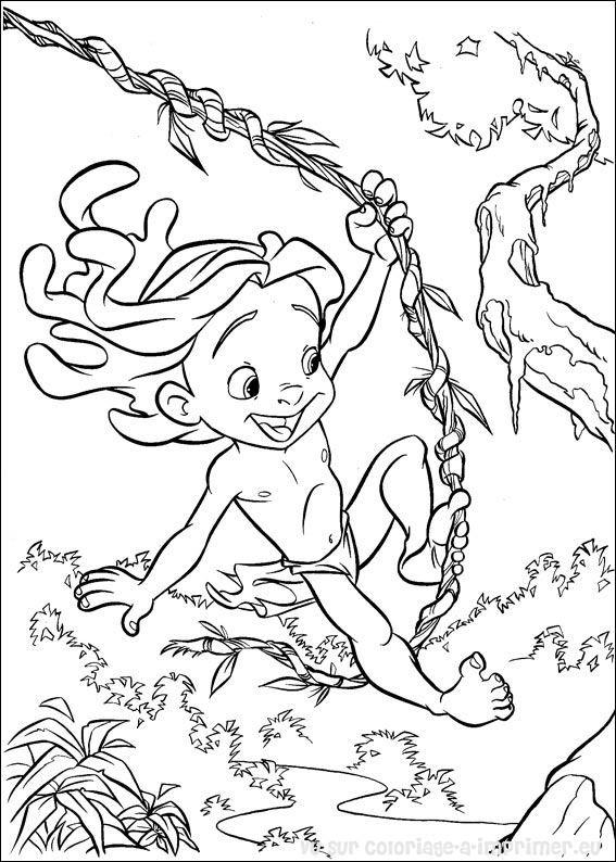 coloriage à dessiner a imprimer de tarzan-2