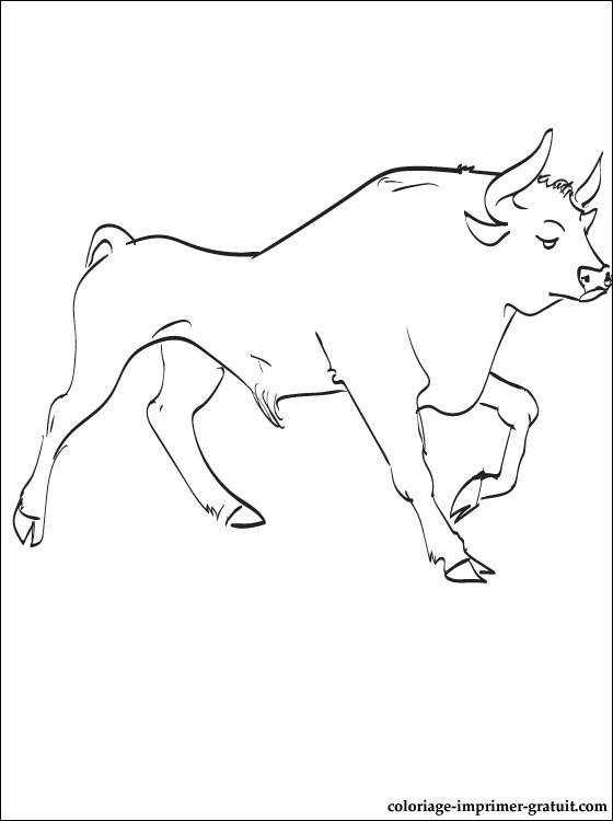 dessin cheval et taureau