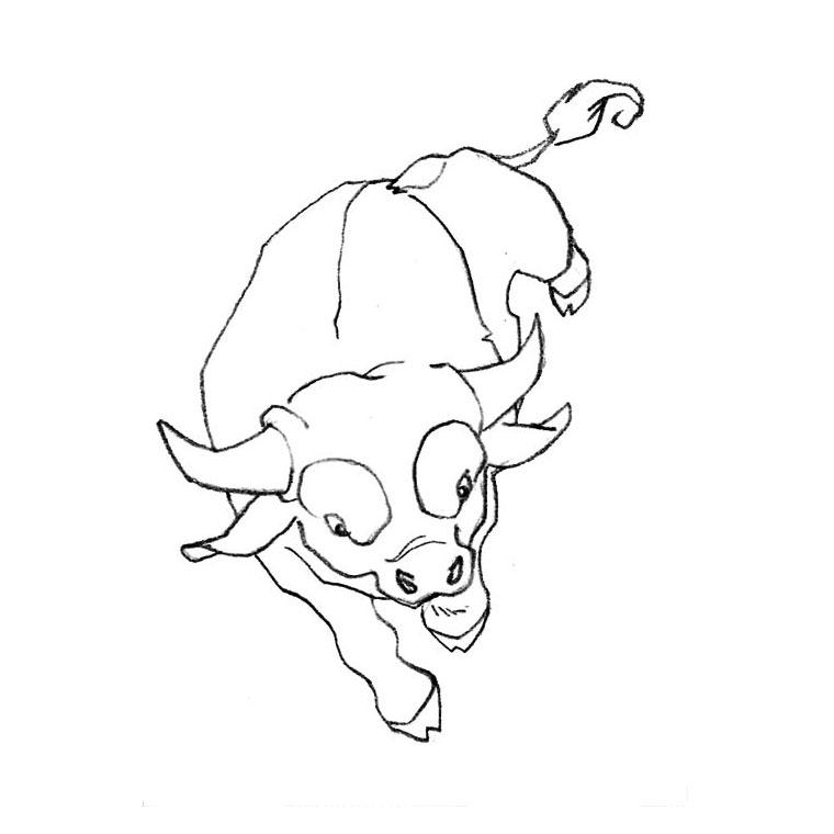 coloriage à dessiner taureau imprimer gratuit