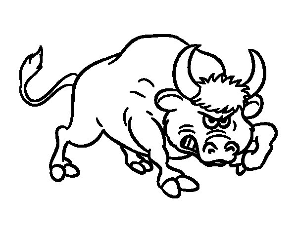 coloriage à dessiner tete de taureau