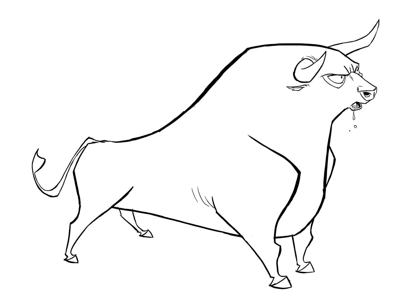 dessin à colorier tete de taureau