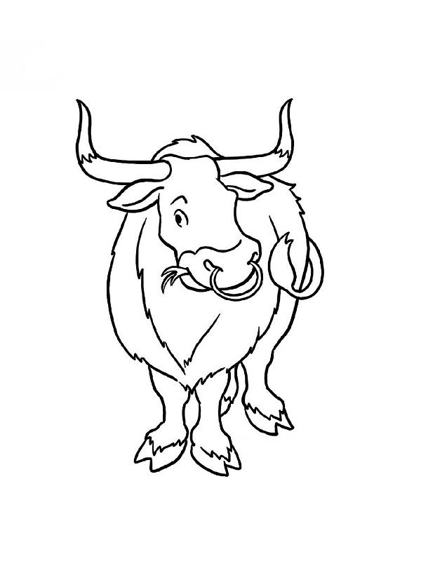 dessin taureau imprimer gratuit