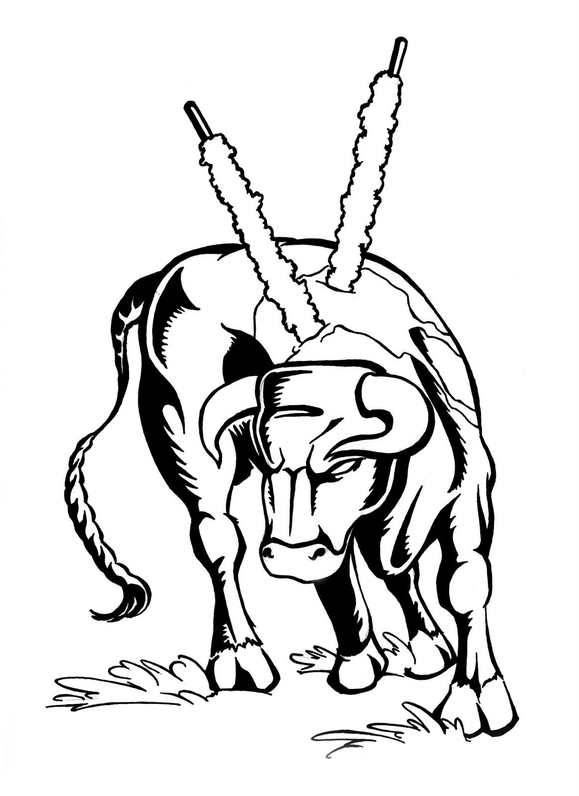 imprimer taureau colorier