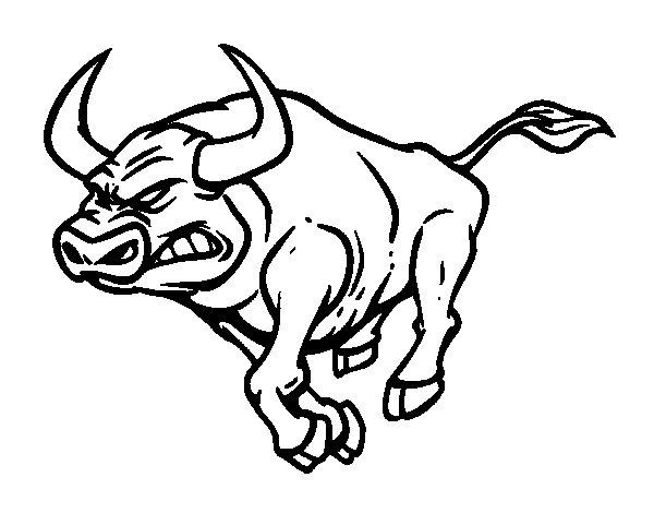 coloriage à dessiner taureau à imprimer