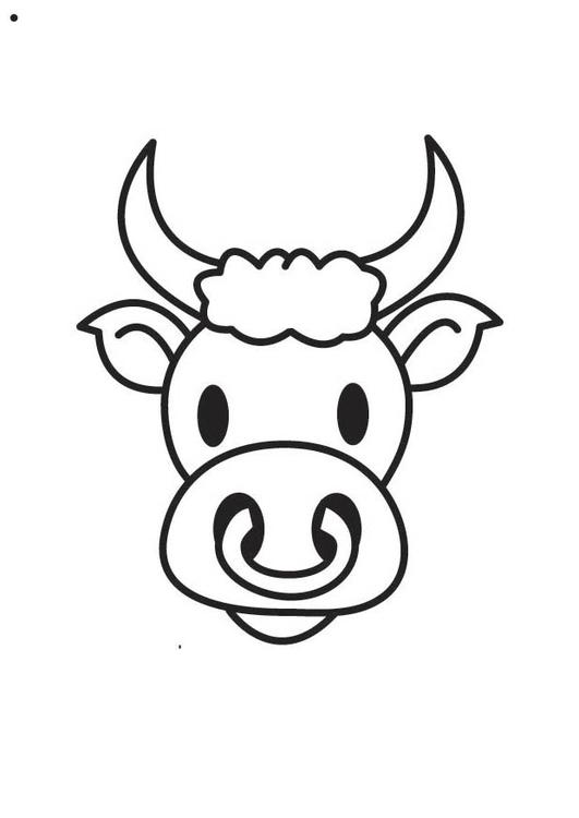 imprimer dessin taureau