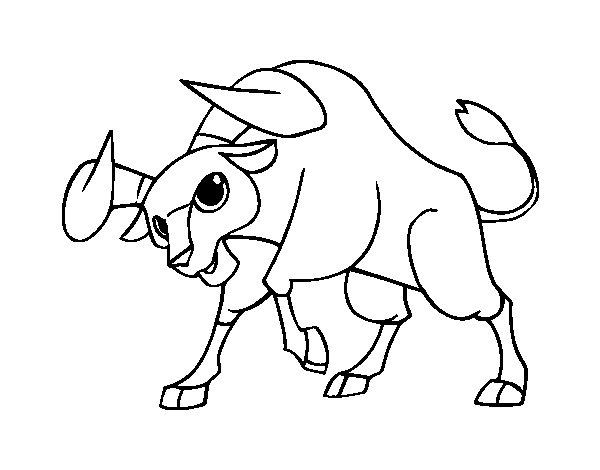 coloriage taureau imprimer gratuit