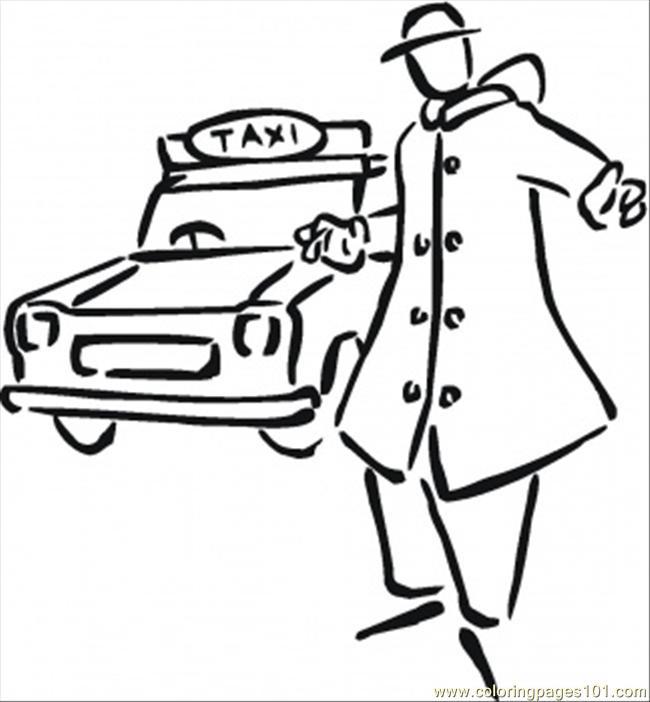 coloriage de taxi 4