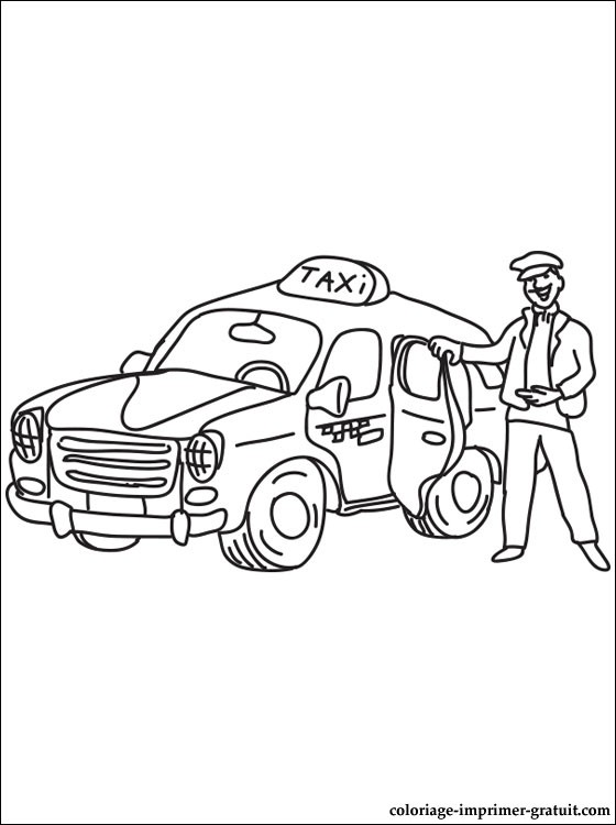 coloriage taxi 4