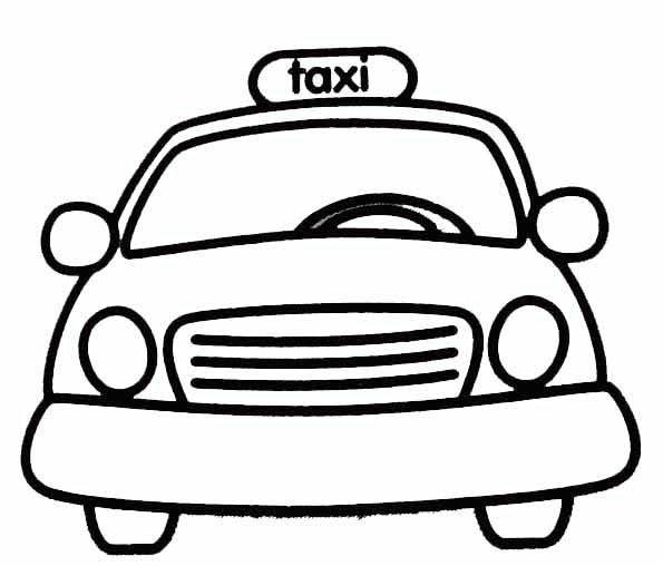 coloriage taxi de new york