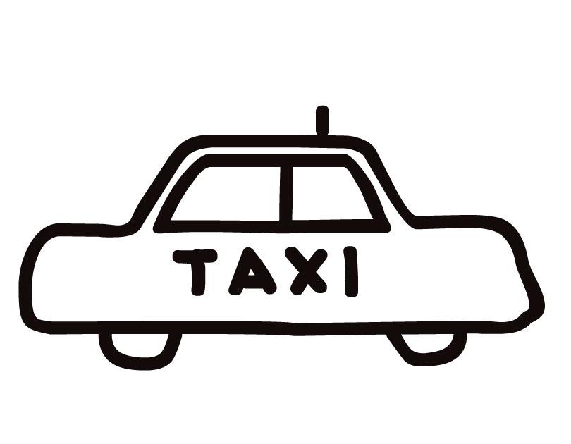 coloriage à dessiner taxi 4