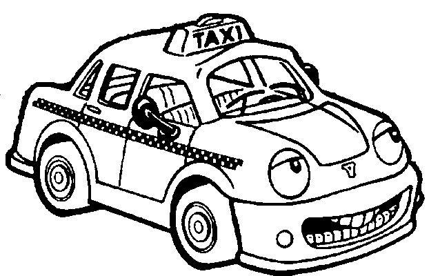 Coloriage taxi de new york for Taxi coloring page