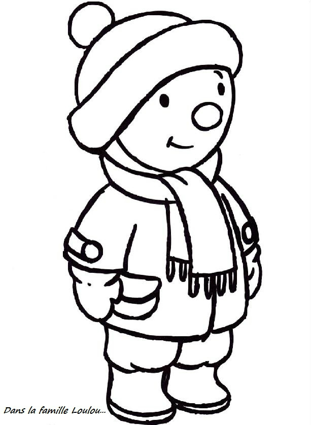 dessin à colorier tchoupi doudou
