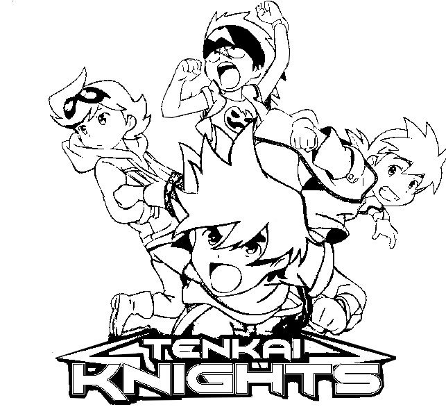 coloriage � dessiner tenkai knights