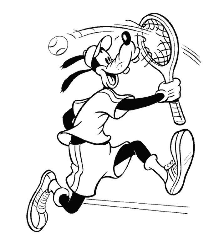 coloriage imprimer tennis nadal