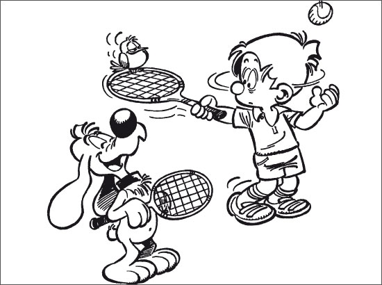 Dessin colorier tennis en ligne - Dessin raquette ...