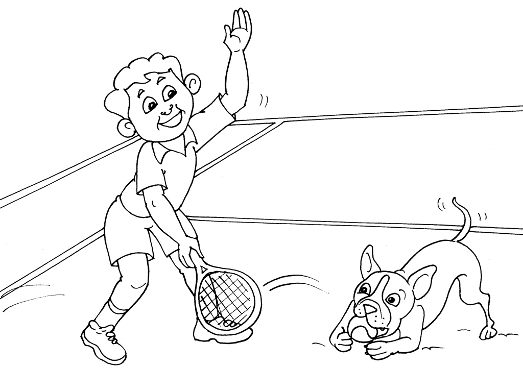 dessin tennis de table a imprimer