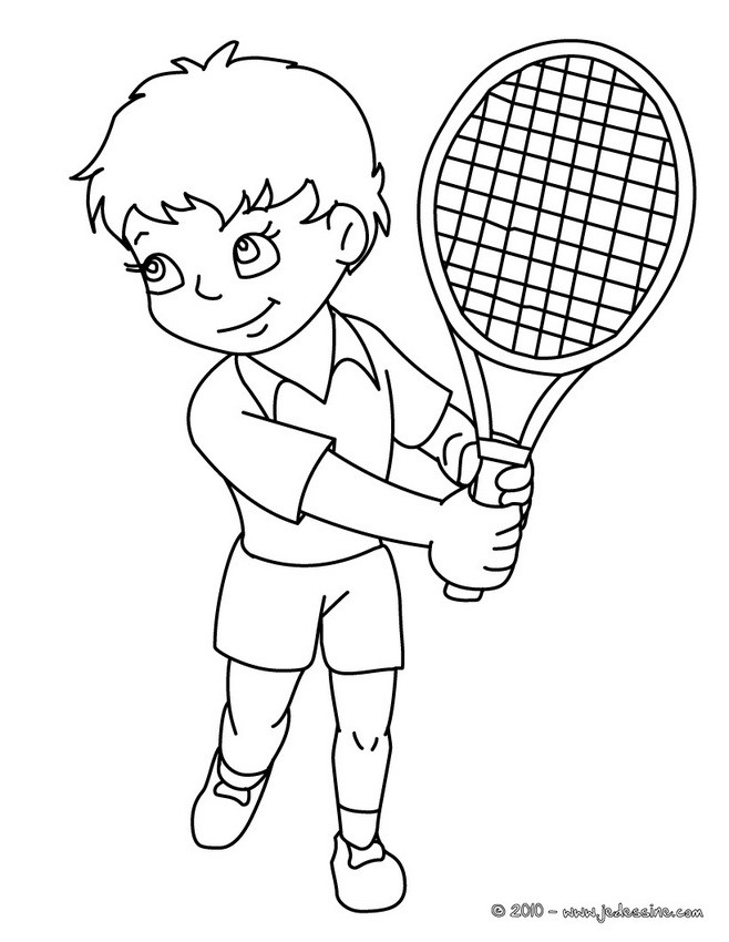 coloriage à dessiner tennis fille