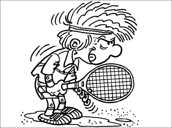 dessin tennisman
