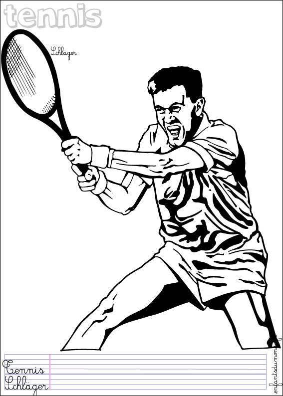 34 Dessins De Coloriage Tennis 224 Imprimer
