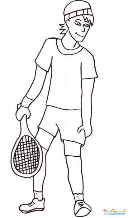 coloriage à dessiner tennis de table