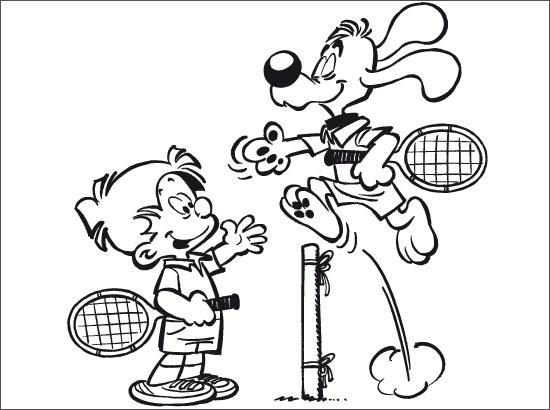 Dessin tennis a imprimer