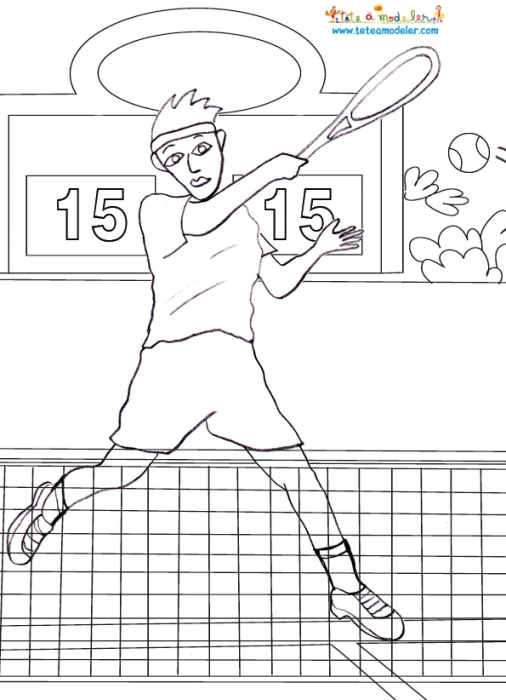 30 dessins de coloriage tennis imprimer - Dessin tennis de table ...