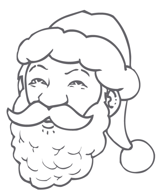 17 dessins de coloriage t te de p re no l imprimer - Dessins pere noel ...