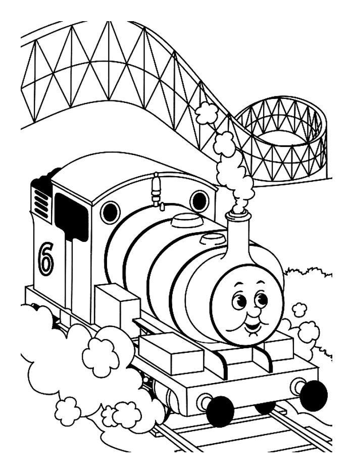 coloriage à dessiner thomas et ses amis