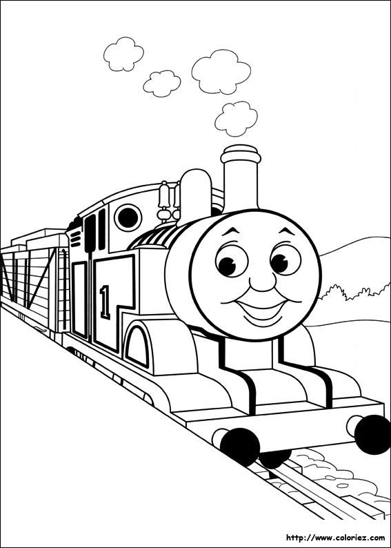 Coloriage a imprimer thomas et ses amis - Thomas et ses amis dessin anime ...