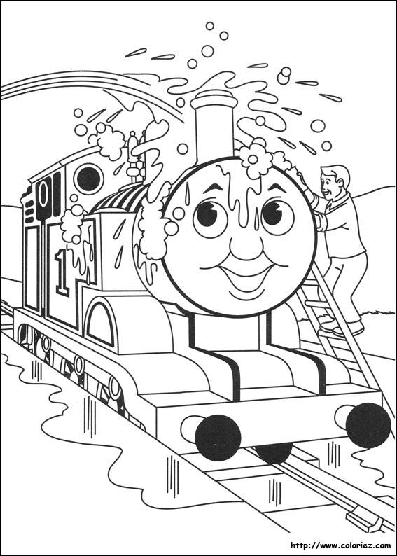 dessin thomas le train et ses amis