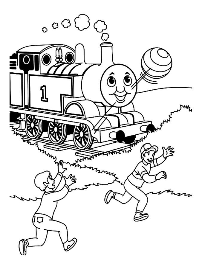 coloriage thomas le train et ses amis