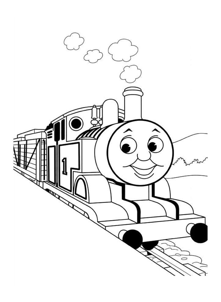 coloriage à dessiner de thomas et ses amis