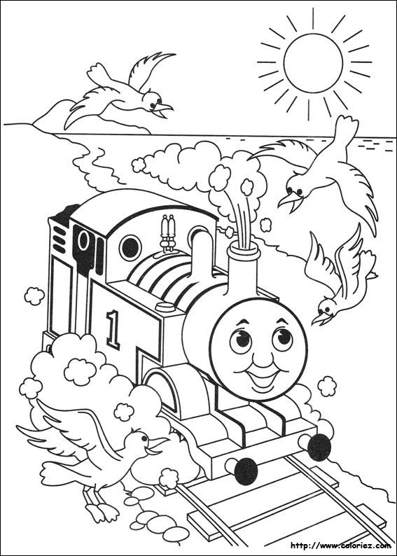 dessin à colorier a imprimer thomas et ses amis