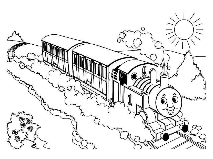8 dessins de coloriage thomas le train et ses amis imprimer - Dessin train et wagon ...