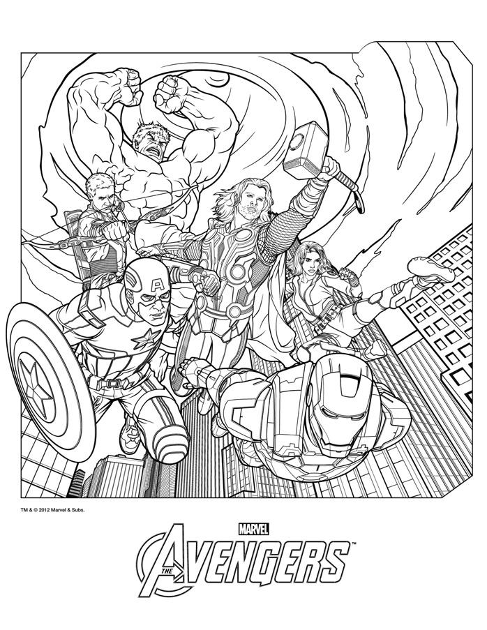 3 dessins de coloriage thor et hulk imprimer - Coloriage spiderman et hulk ...