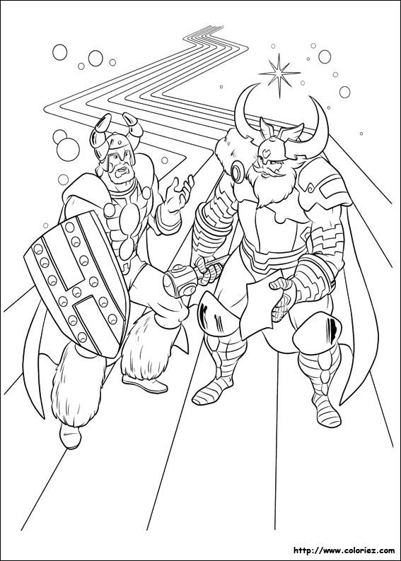 coloriage à dessiner de thor en ligne