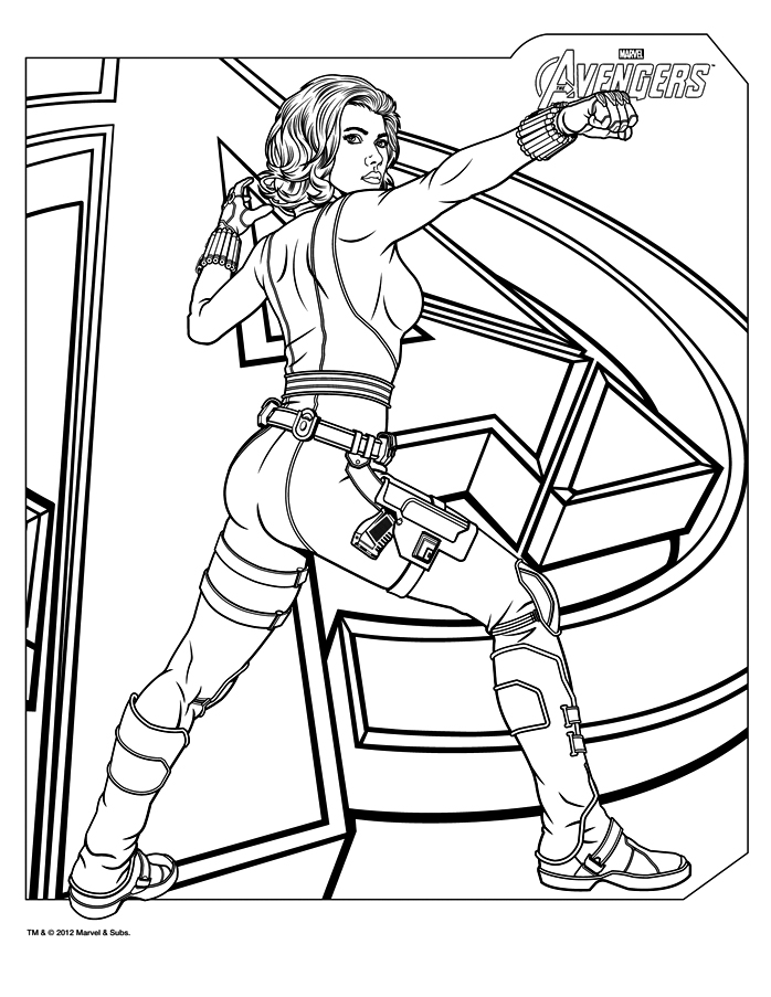 dessin à colorier super héros thor