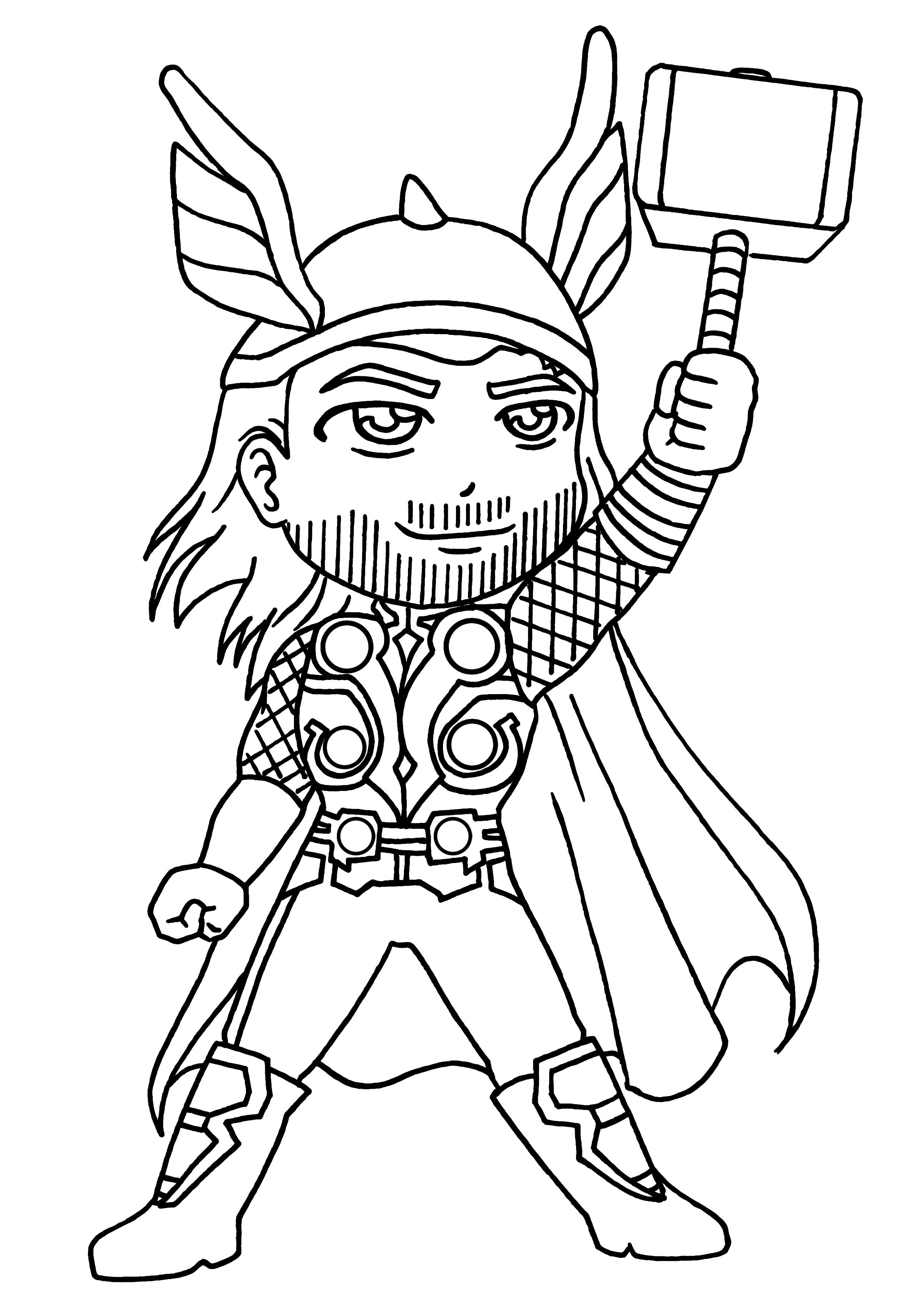 coloriage à dessiner thor 2