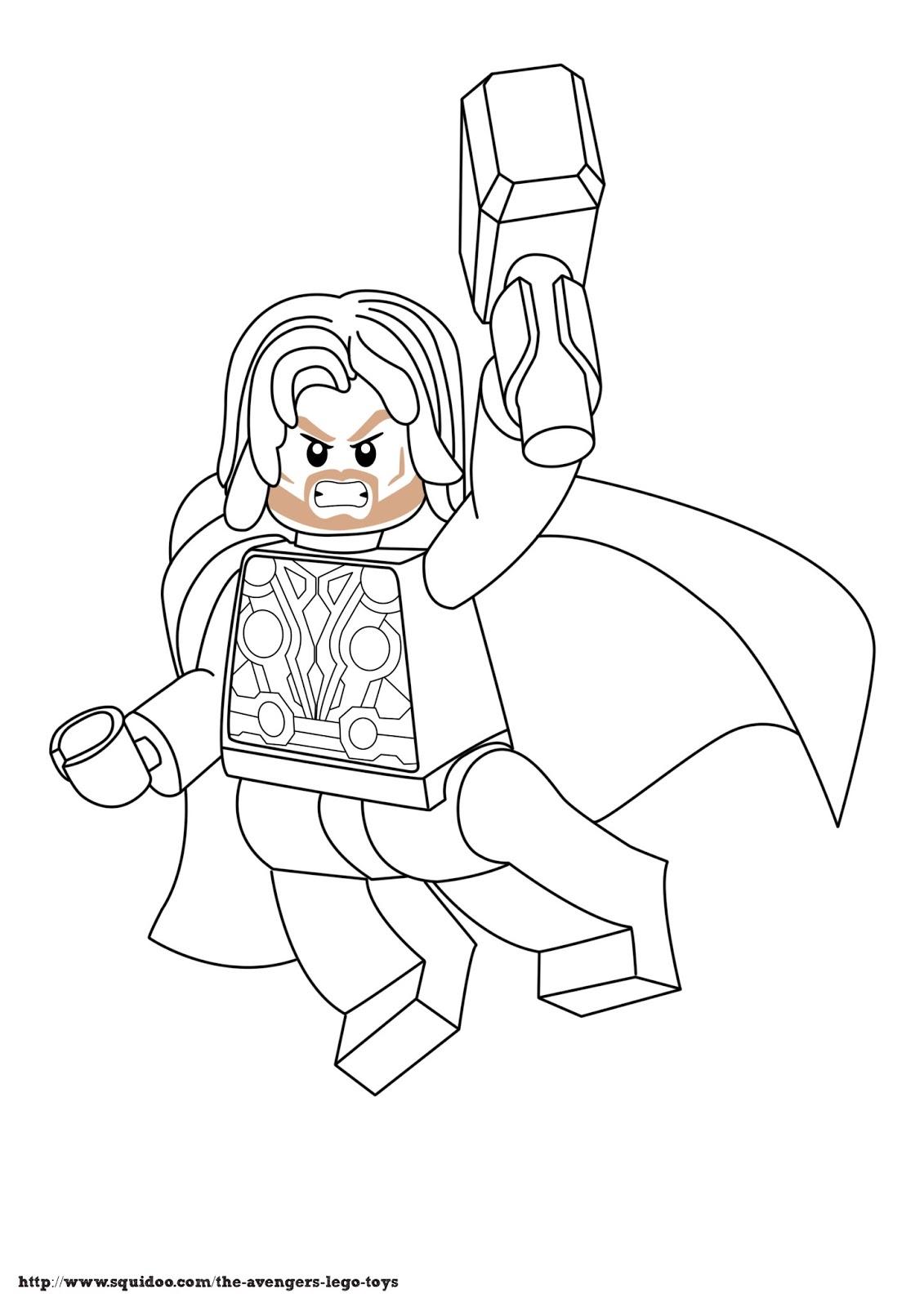 dessin à colorier marteau de thor