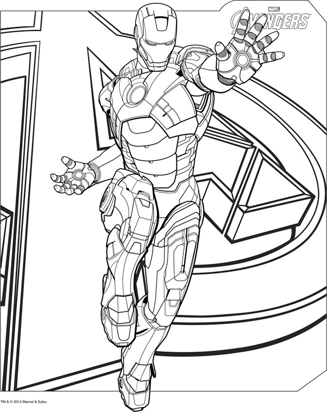 coloriage thor avengers