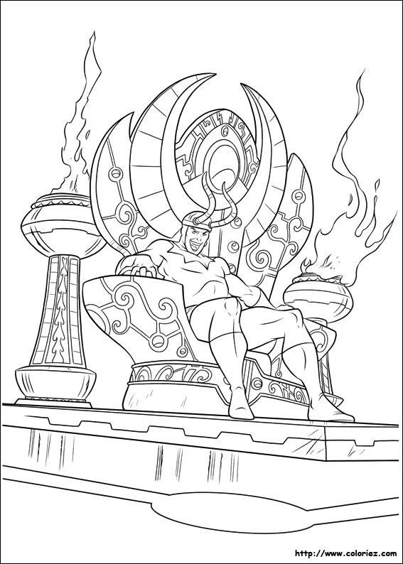 coloriage à dessiner thor gratuit