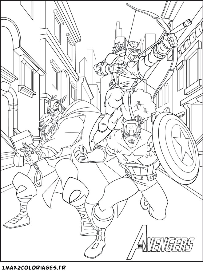 coloriage de thor marvel