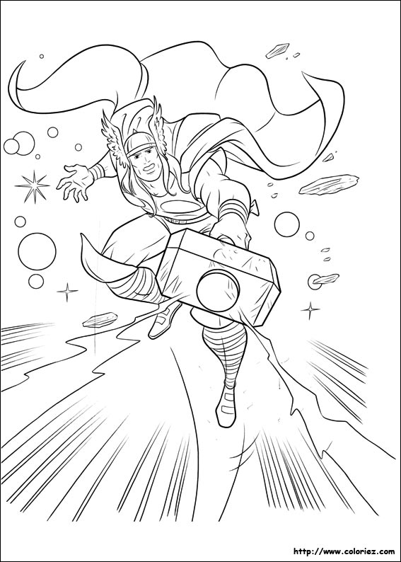 coloriage heros thor